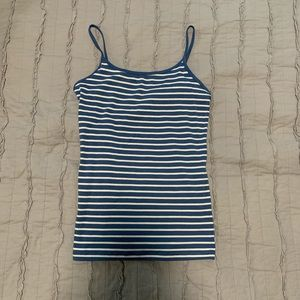 Women's Aeropostale blue cami w/ white stripes